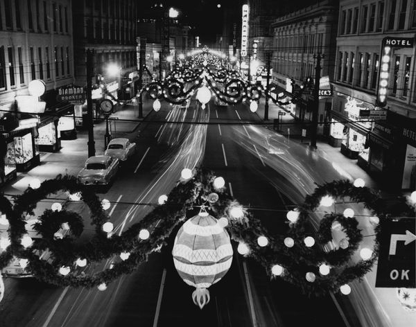 Denver's Christmas display in 1958.