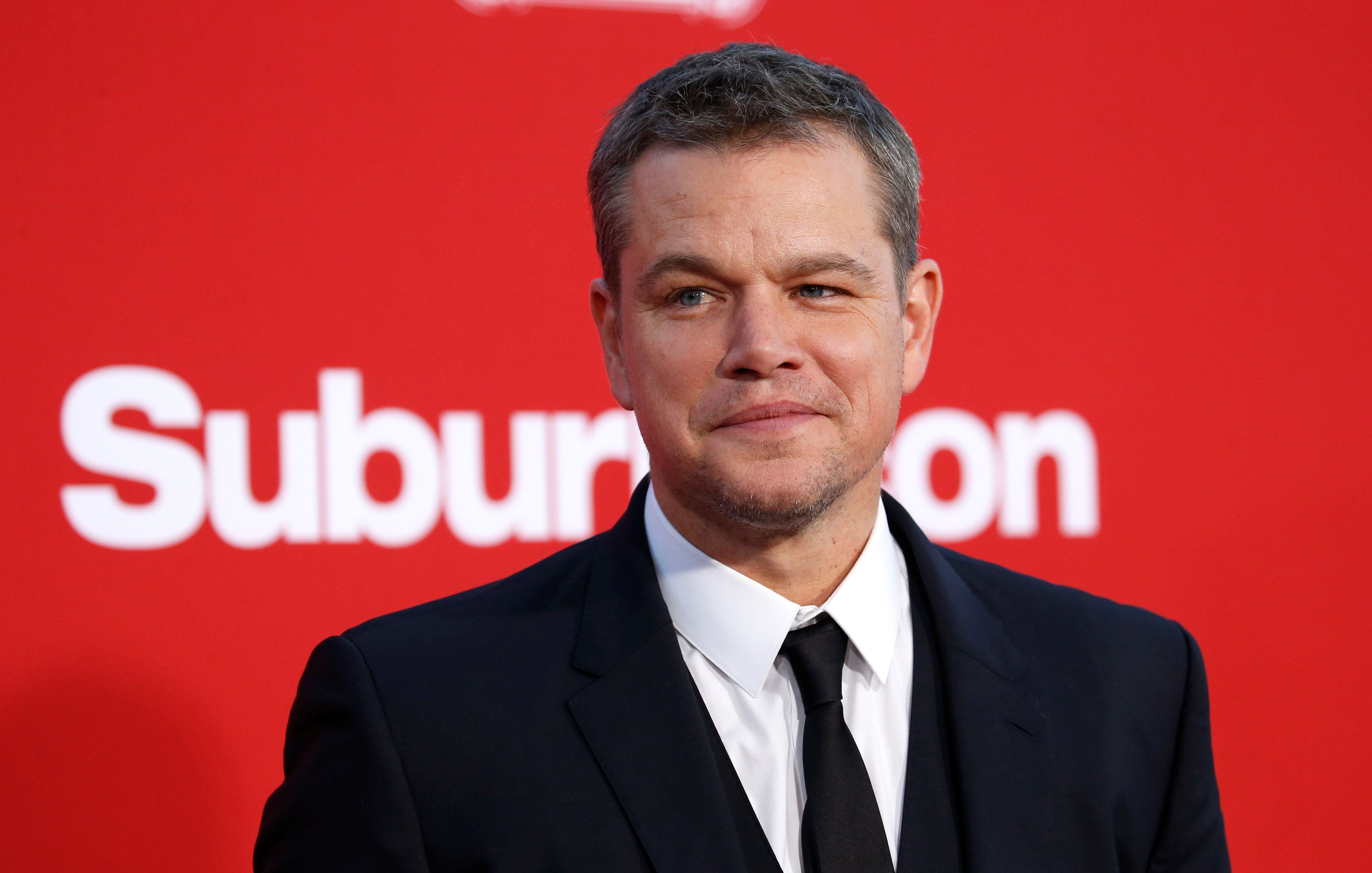 "Cast member Matt Damon poses at the premiere for ""Suburbicon"" in Los Angeles, California, U.S., October 22, 2017. REUTERS/Mario Anzuoni"