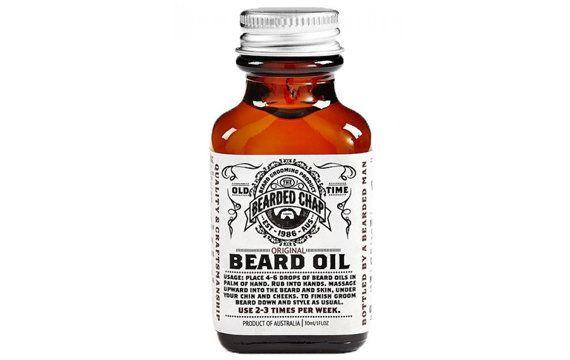 "<strong><a href=""http://www.thebeardedchap.com/original-beard-oil/"" target=""_blank"">Bearded Chap Original beard oil</a>, $40<"