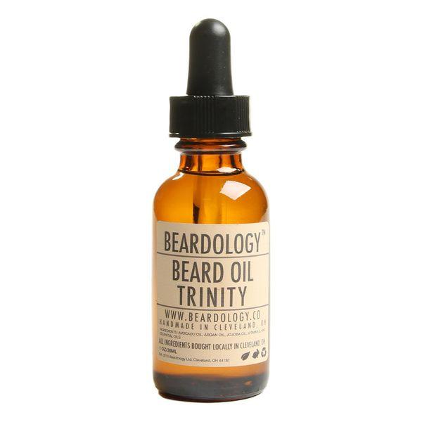 """<strong><a href=""""https://www.thestache.com/beardology-beard-oil"""" target=""""_blank"""">Beardology beard oil</a>, $13.95</strong>"""