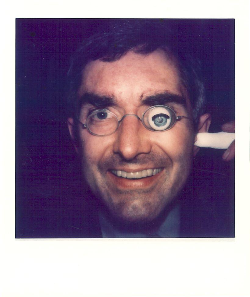 George Maciunas portrait with glass eye. From Polaroid Portrait Series by Robert Watts, ca. 1977