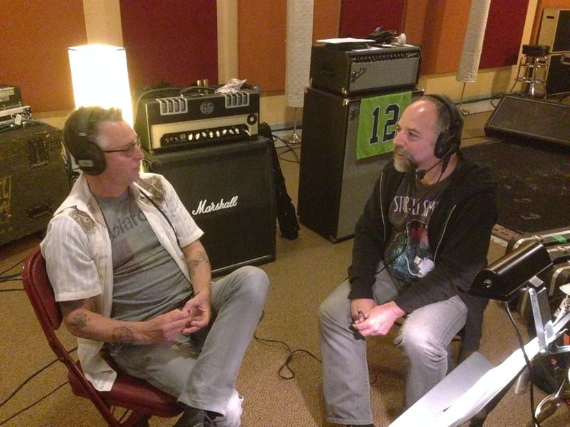 Mike and Rob in the studio
