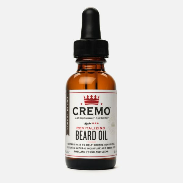 """<strong><a href=""""https://www.cremocompany.com/products/beard-oil-forest-blend"""" target=""""_blank"""">Cremo Revitalizing beard oil</"""