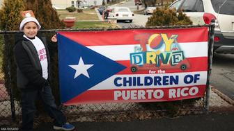 Jayden Perez is collecting toys for kids in Puerto Rico