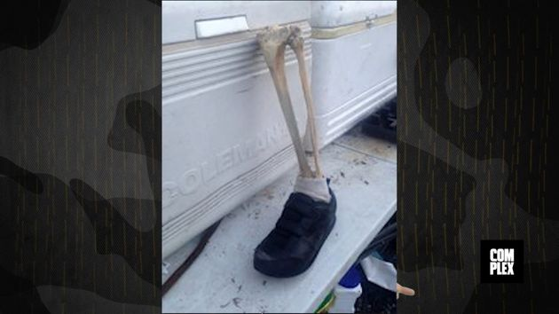 Authorities in Canada say a man walking a dog made this shocking discovery last