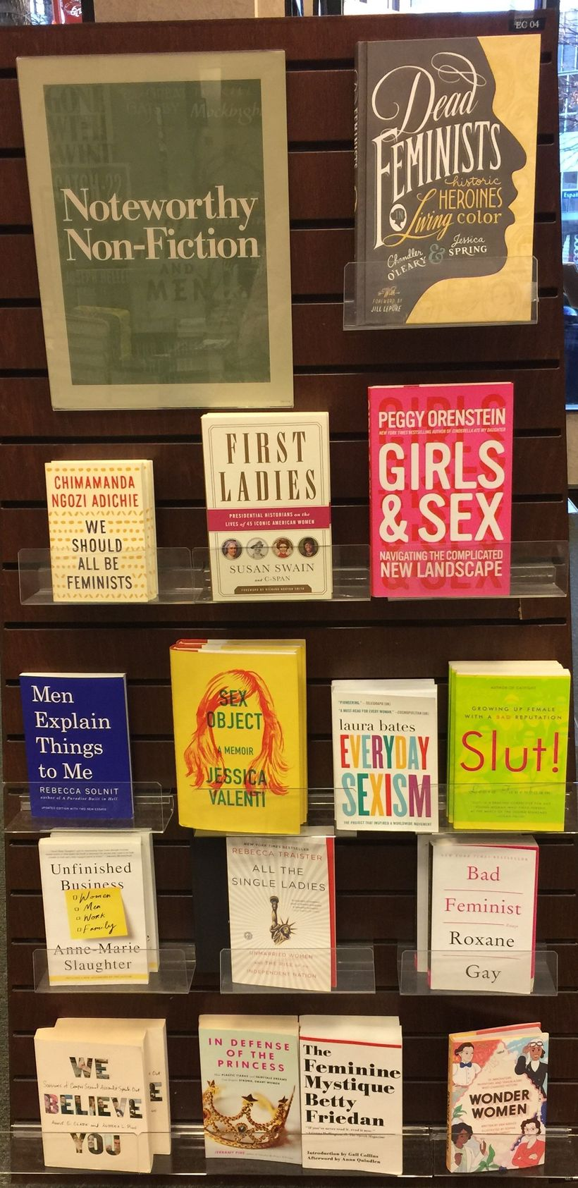"New and classic feminist books are suddenly considered ""noteworthy"" at the local Barnes & Noble."