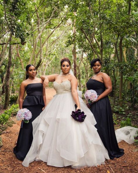 """Bridal crew only needs to be a few.""—<i>Eboni Robyn</i>"