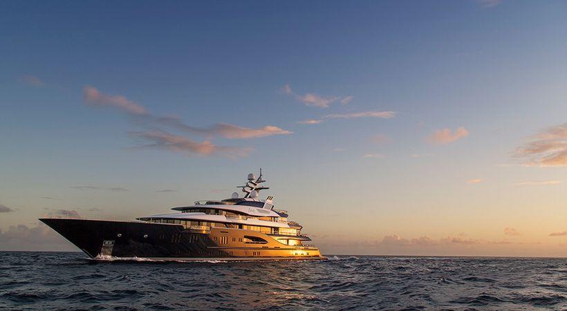 The award-winning Solandge superyacht.