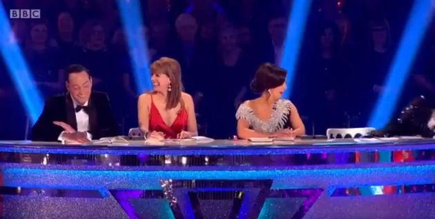 Bruno Toniloi fell off his chair during the 'Strictly Come Dancing'