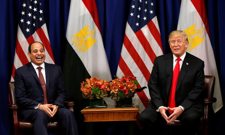 Egyptian President Abdel Fattah al-Sisi met with U.S. President Donald Trump at the United Nations in September.