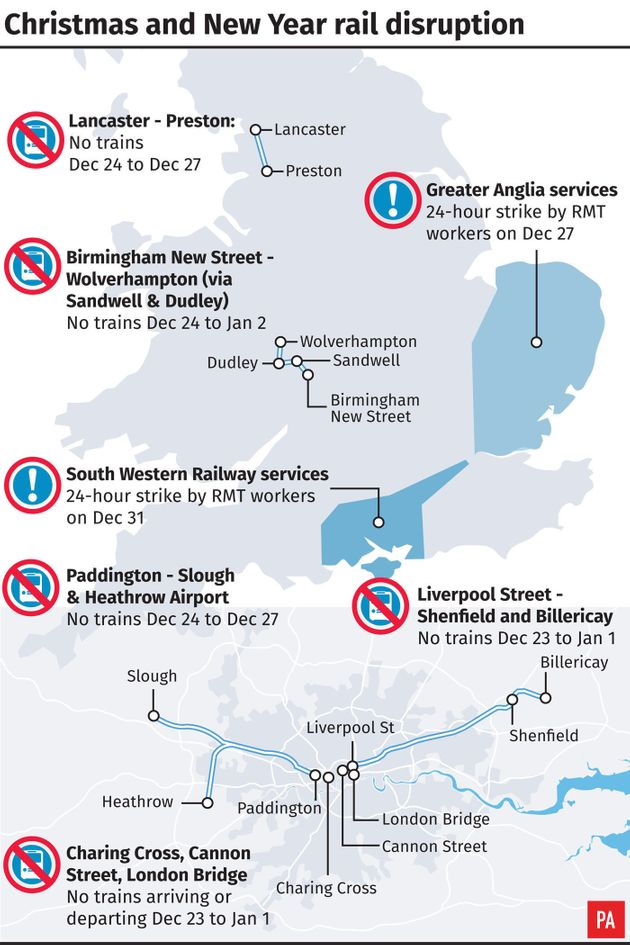 Network Railwill be carryingout its biggest ever Christmas investment