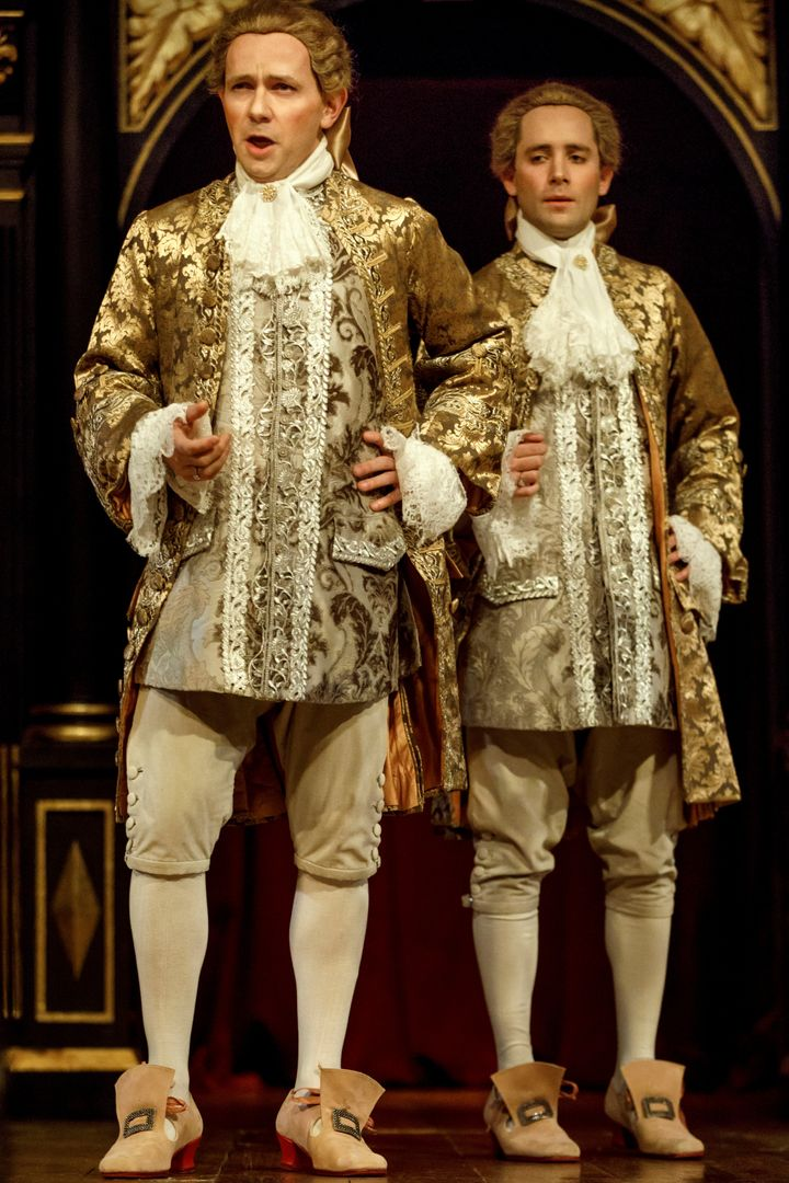 <p>Iestyn Davies and Sam Crane as Farinelli in <em>Farinelli and the King</em> </p>
