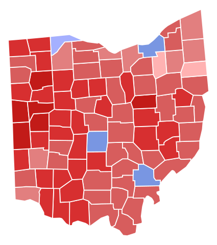 Democrats ran majorities in only four counties in 2016, begging the question: Is Ohio still a swing state?