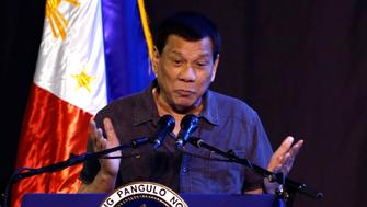 GENERAL SANTOS, PHILIPPINES - DECEMBER 17:  President Rodrigo Roa Duterte speaks at the 39th birthday party of Boxer Manny Pacquiao at KCC convention center on December 17, 2017 in General Santos, Philippines.  (Photo by Jeoffrey Maitem/Getty Images)