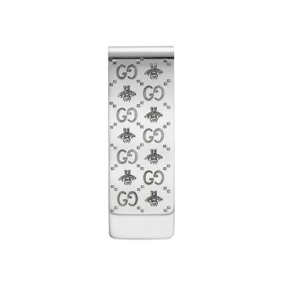 Sterling Silver Interlocking G with Bee Money Clip