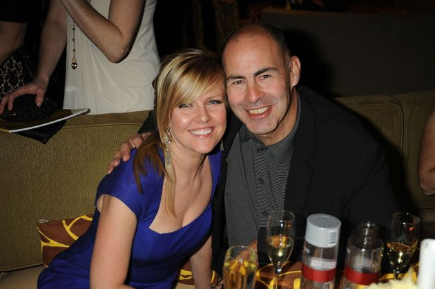 Ashley Jensen with her husband, Terence