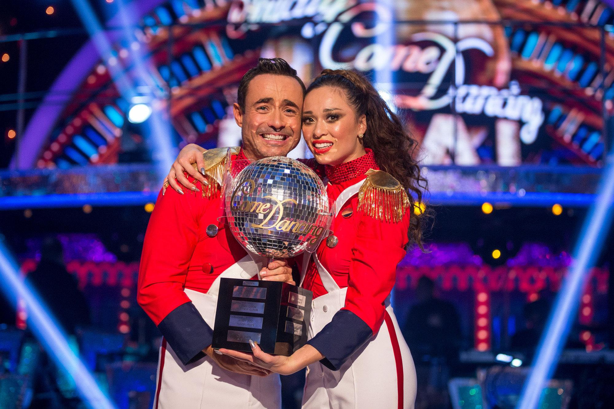 Joe with his 'Strictly' dance partner Katya