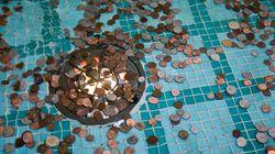 Esto es lo que ocurre con las monedas que la gente tira a las
