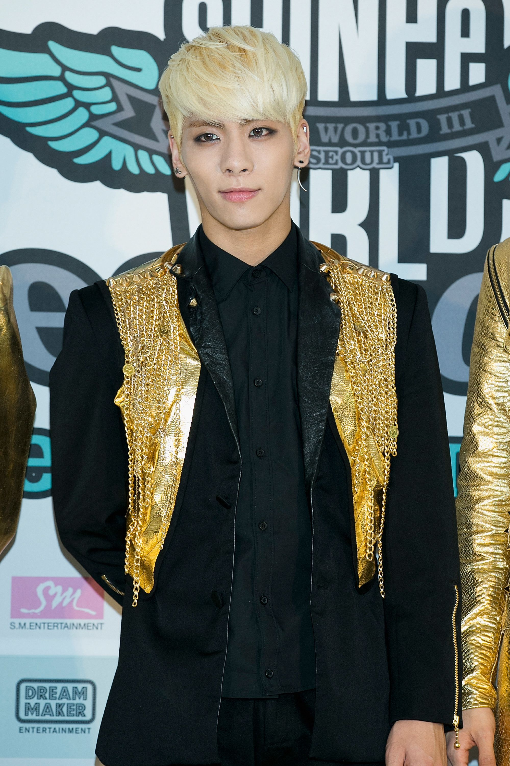 SEOUL, SOUTH KOREA - MARCH 09:  Jonghyun of South Korean boy band SHINee attends the 'SHINee World III' press conference on March 9, 2014 in Seoul, South Korea.  (Photo by Han Myung-Gu/WireImage)