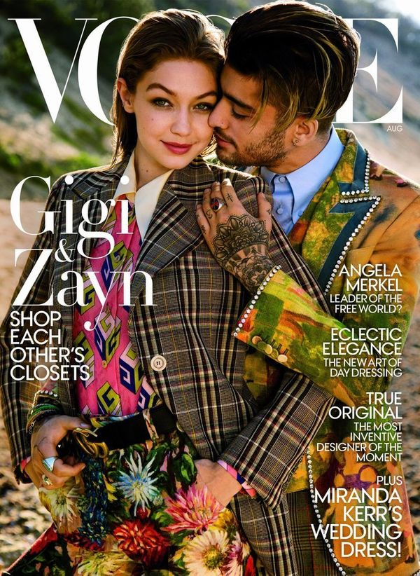 Young power then-couple Gigi Hadid and Zayn Malik appeared on the cover of Vogue's August issue, with the magazine claiming t