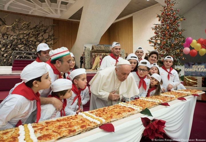 Pope Francis Celebrated His 81st Birthday With A Big Pizza Pie