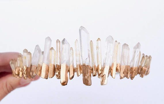 Move over rustic, barn house weddings. Bohemian weddings are trending with whimsical details likequartz crystals.