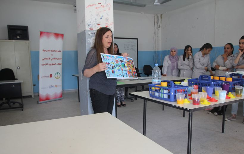 <em>Art therapy is making a difference for Refugees in Lebanon. </em>