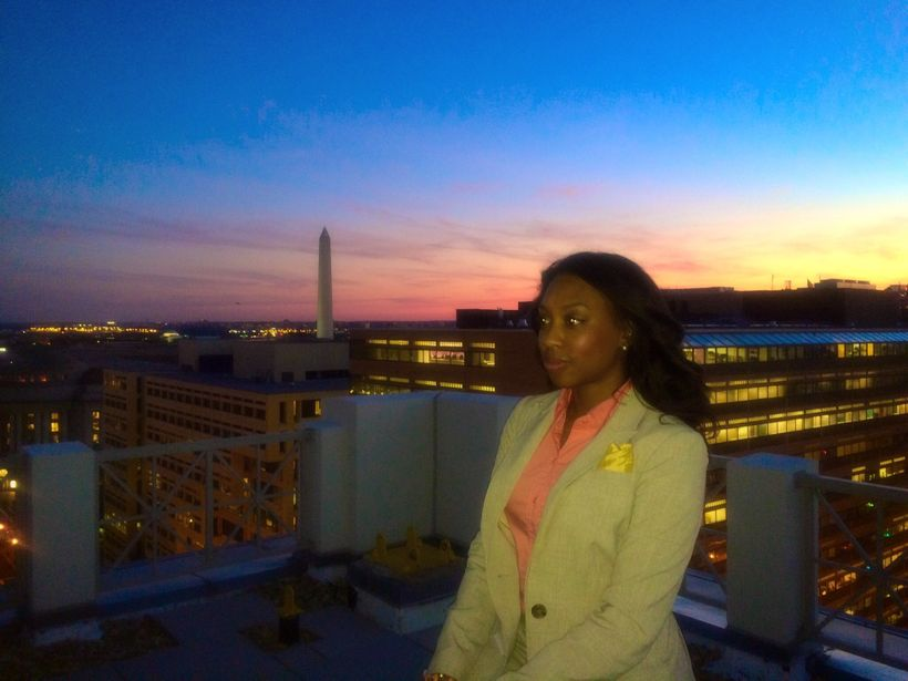 Ashley Simms attending Cision Networking Event at the 101 Constitution Roof Terrace in Washington, D.C.