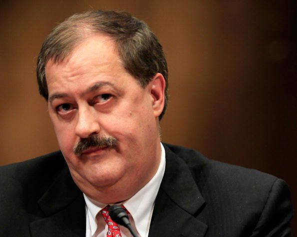 Don Blankenship during a hearing before the of the Senate Appropriations Committee