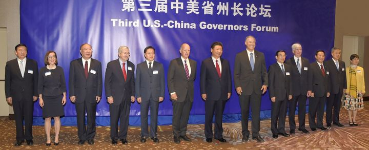 <em>Gov. Inslee and a bipartisan group of U.S. governors met and signed an accord with Chinese governors on September 22, 201
