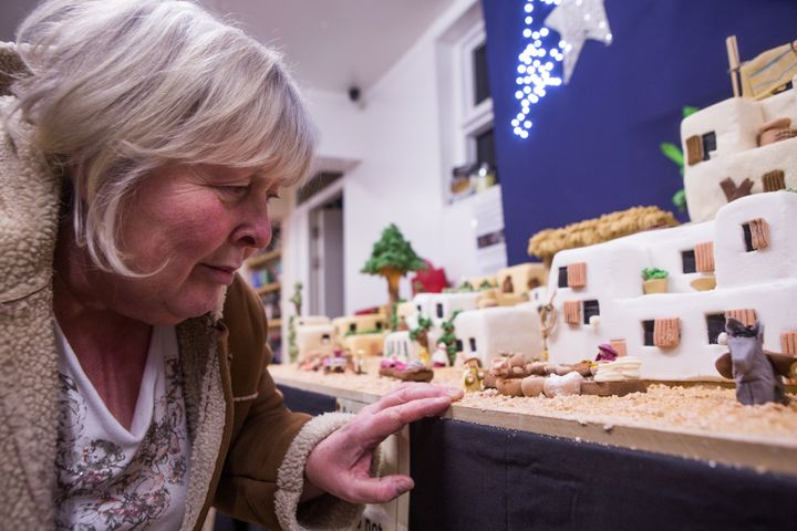 Lynn Nolan poses with her little and sweet town of Bethlehem.