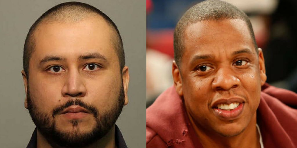 George Zimmerman, left, is reportedly threatening Jay-Z, right, related to a docuseries the music mogul is creating.