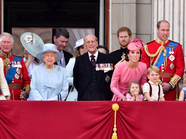 The royal couple— pictured in June 2017 with their children, grandchildren and great-grandchildren— r