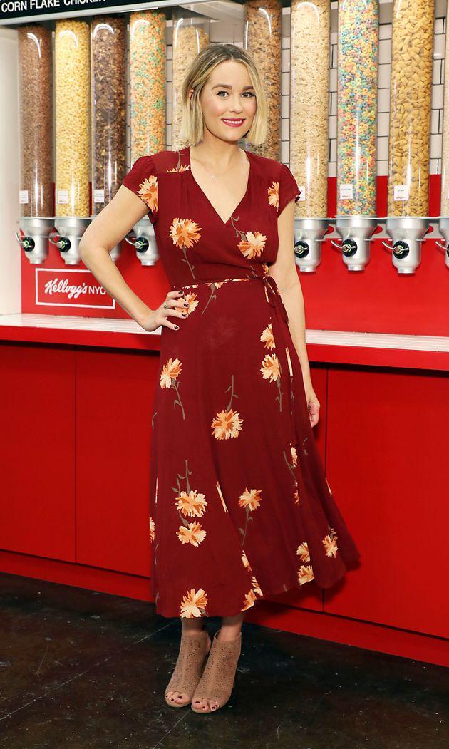 Lauren Conrad pictured at Kellogg's Café in New York