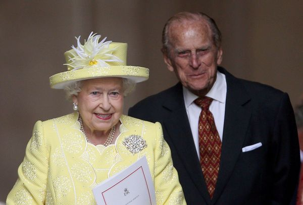 Elizabeth— pictured here with Philip at St. Paul's Cathedral in London onher 90th birthday— ack