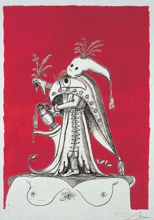 SalvadorDalí, <em>PantagruelY Tete</em> <em>á Fantome</em> (1973), lithograph (edition Number 239/250), 30 x 22 inches