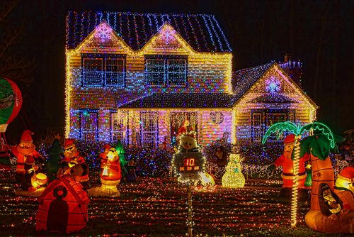 If you neighbor's display would even put Chevy Chase to shame, don't take the bait of social comparison.