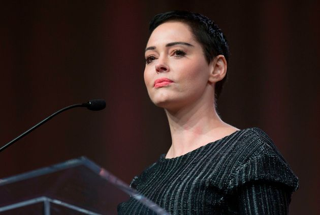 Rose McGowan rips protest of stars sporting black to Globes