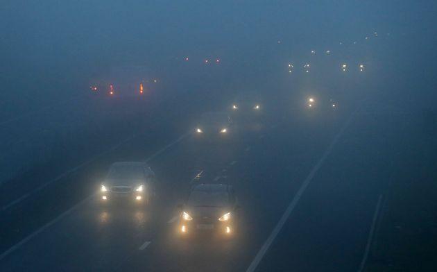 Scores of Heathrow flights CANCELLED as fog wreaks havoc over UK