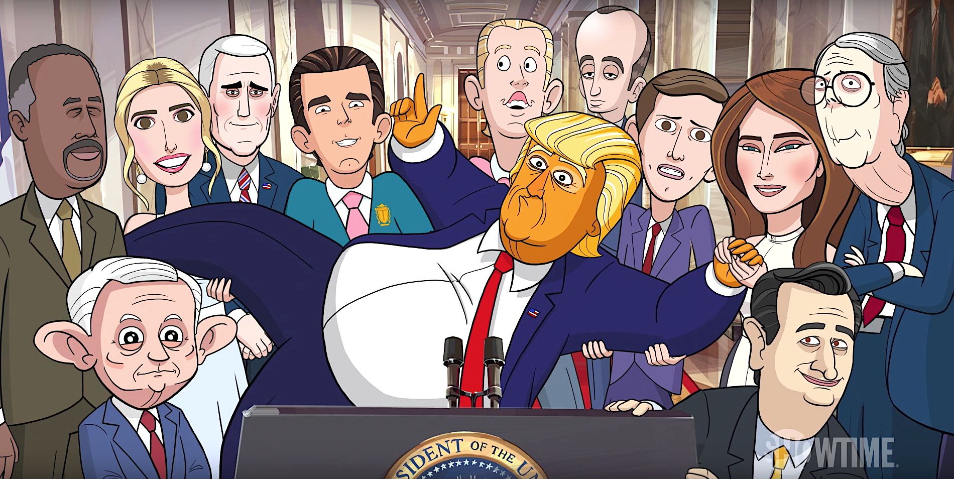 stephen colbert teases new our cartoon president tv show