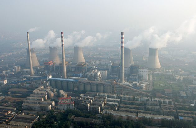 A coal-burning power plant on the outskirts of Zhengzhou, Henan province, China, pictured in