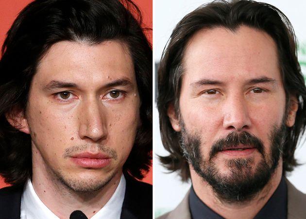 ¿Son Adam Driver y Keanu Reeves la misma