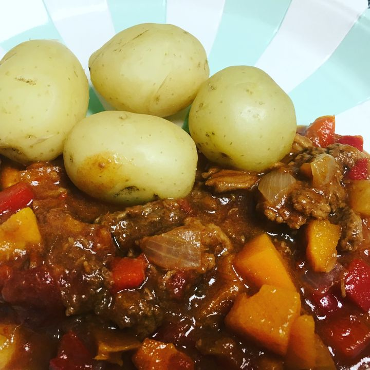 Zebedees Hungarian-themed beef goulash