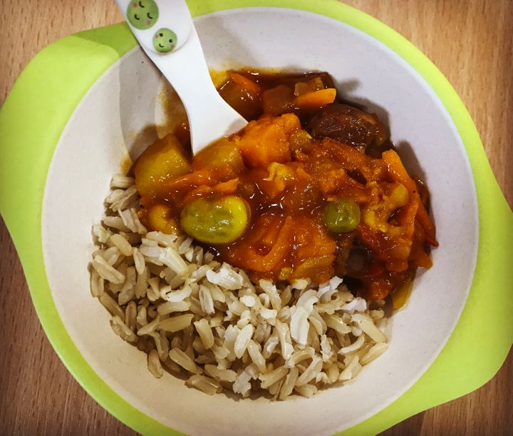 Zebedees Indian-themed fruity vegetable curry