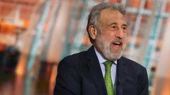 George Zimmer, founder and former chairman of Men's Wearhouse Inc., speaks during a Bloomberg Television interview in New York, U.S., on Monday, Dec. 28, 2015. Loomis discussed the lessons learned in the retail industry in 2015 and said the online apparel industry has finally 'caught on.' Photographer: Chris Goodney/Bloomberg via Getty Images