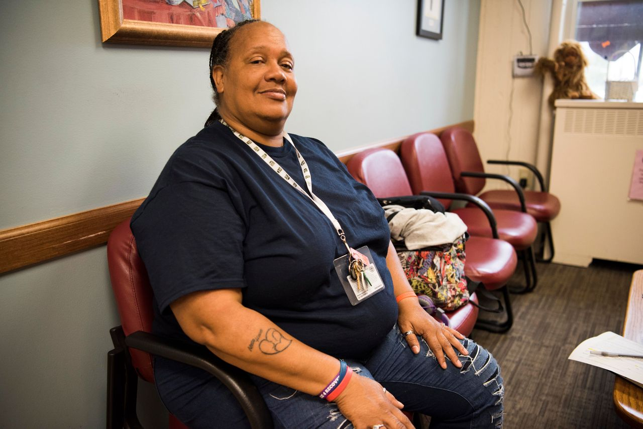 Before her commencement from Meta House, an all-female residential drug and alcohol treatment program, Edna Boykins got a tattoo of the organization's logo on her right forearm.