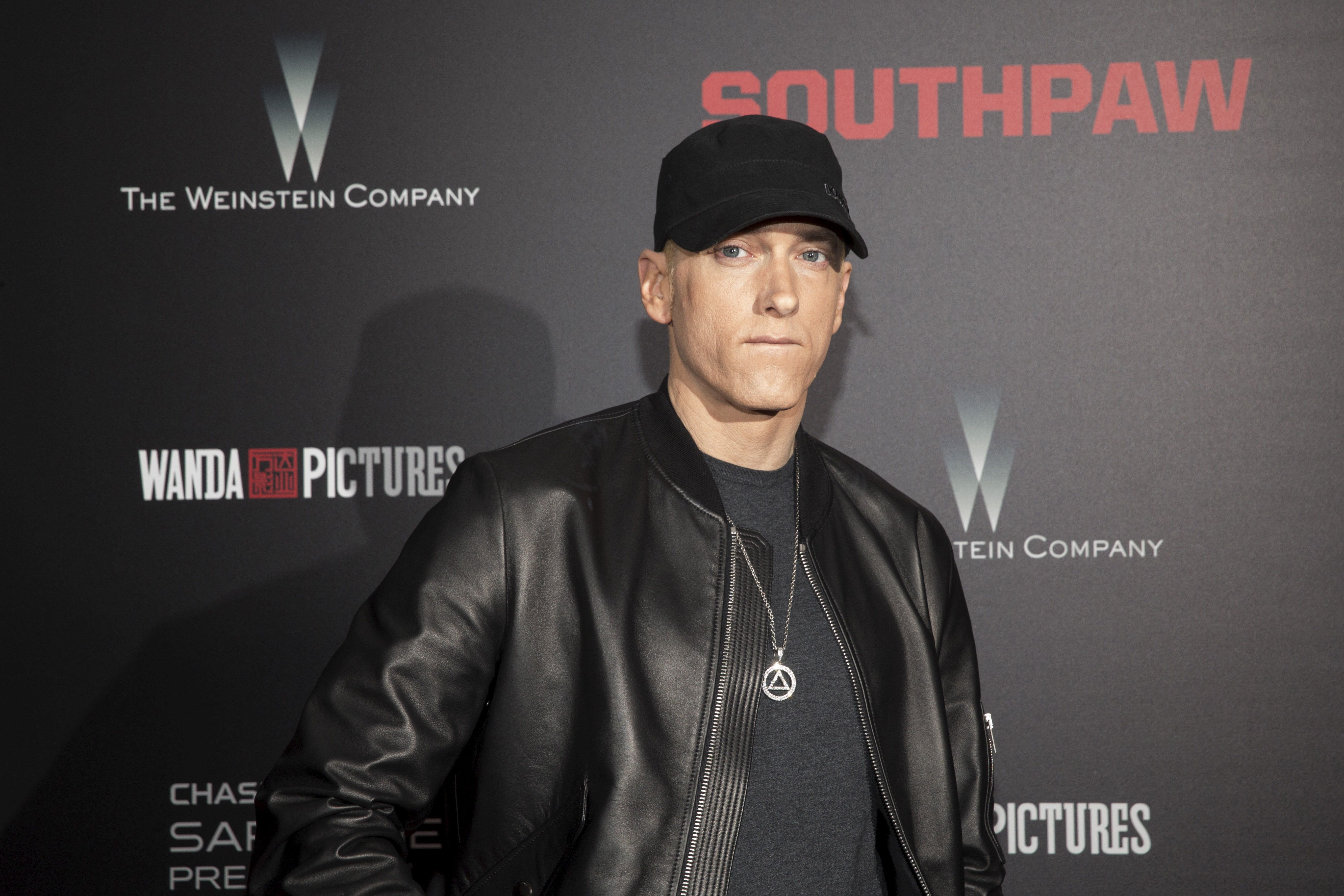 Eminem, 45, has been accused of channeling homophobia and misogynyin his music and performances.
