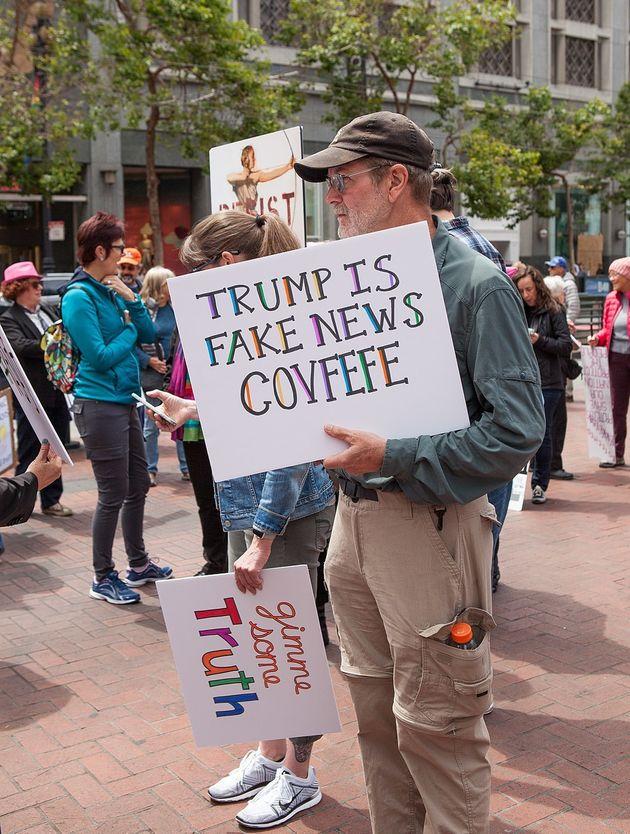 Protest against fake
