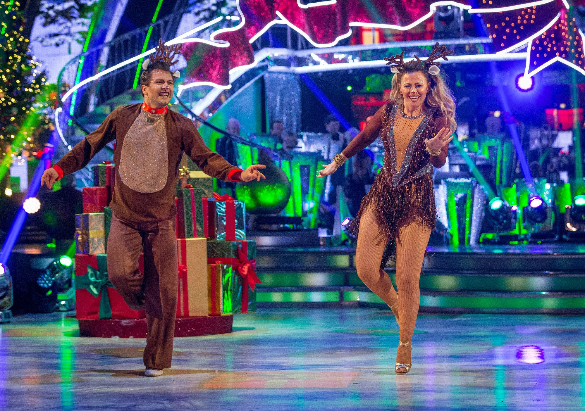 <strong>Kimberley Walsh and Pasha Kovalev topped the leader board</strong>