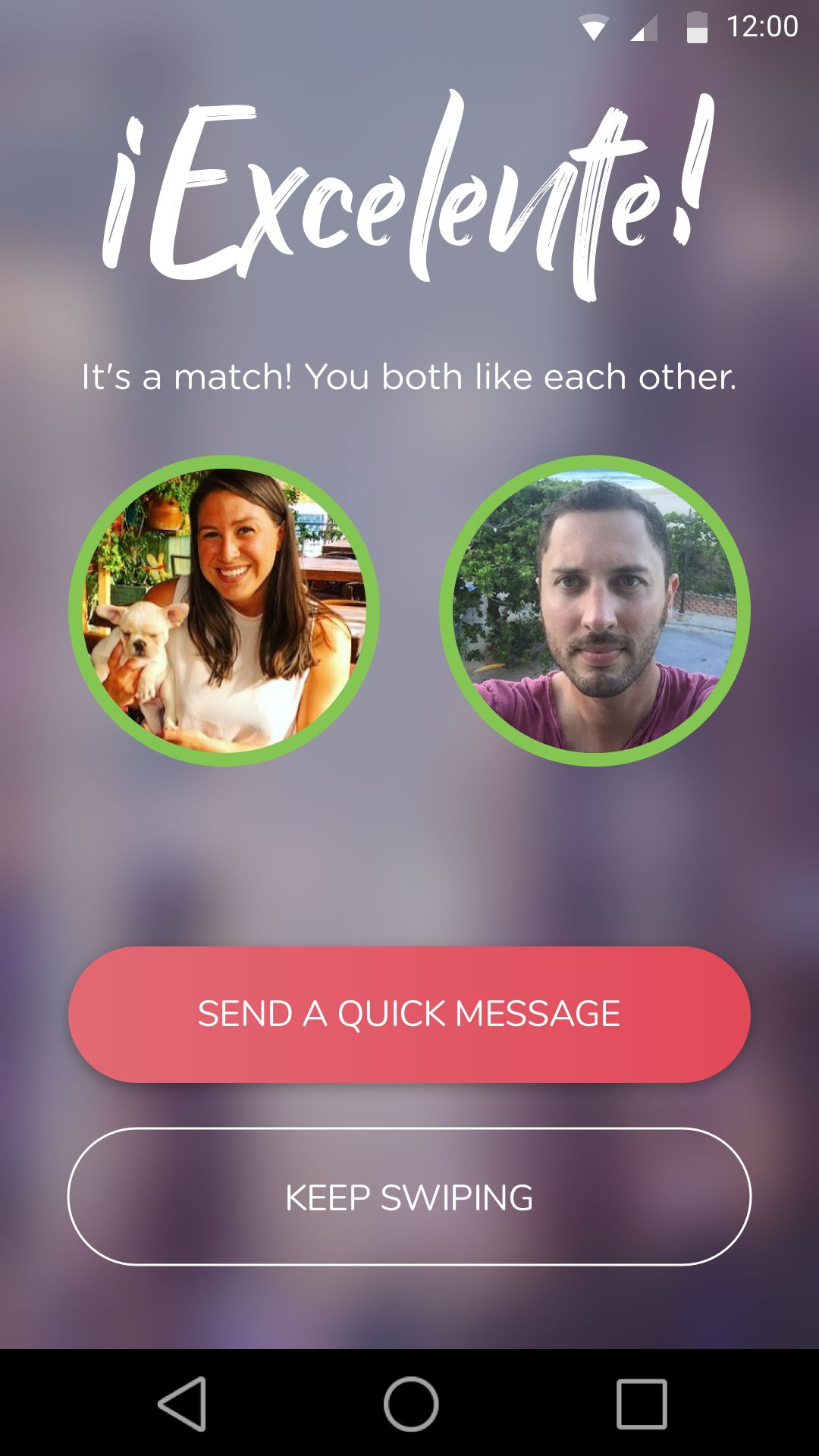 The app functions similarly to Tinder.